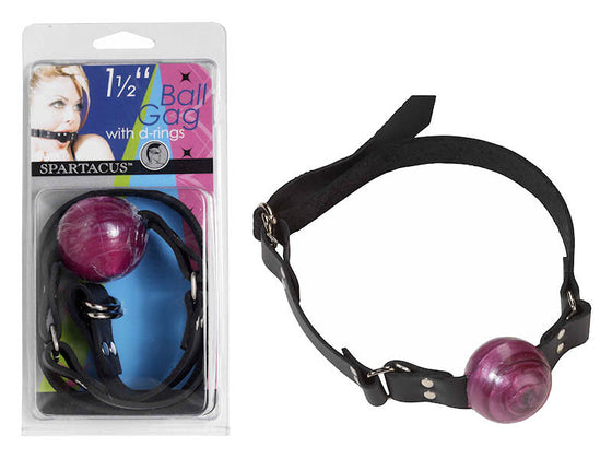 1 1/2 In Purple Ball Gag With Buckle