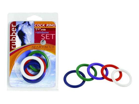 1 1/4in Soft C Rings Rainbow