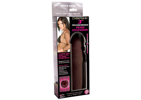 Cyberskin 3in Transformer Penis Extension Dark