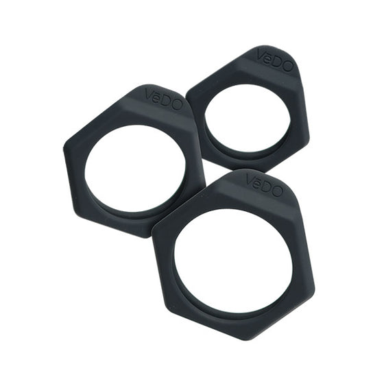 Vedo Bolt Cock Ring Set Just Black