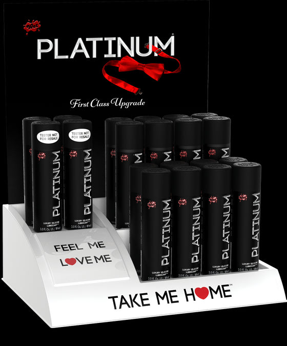 Wet Platinum 16 3 Oz. Bottles With 4 Free Testers & Free Display