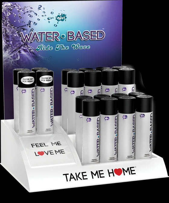Wet Original Water Based 16 3 Oz. Bottles With 4 Free Testers & Free Display