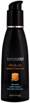 Wicked Aqua Salted Caramel Lube 2 Oz.
