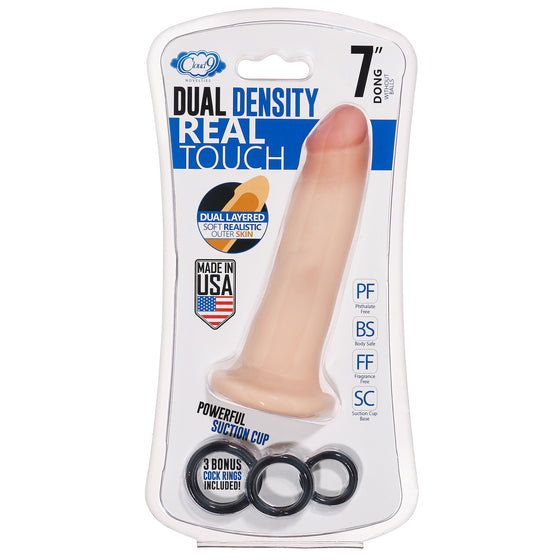 Cloud 9 Dual Density Real Touch 7in With No Balls Flesh