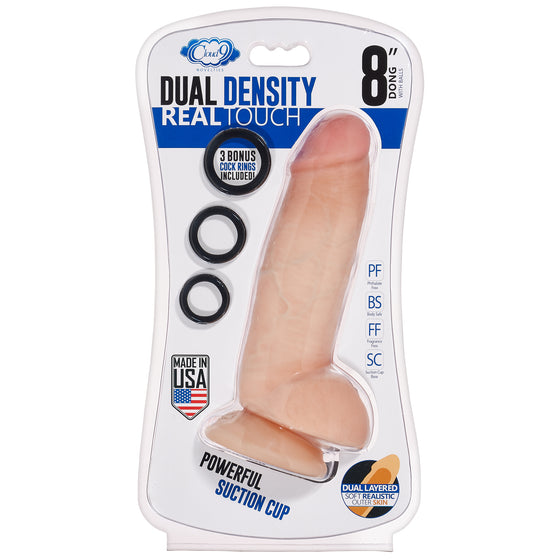 Cloud 9 Dual Density Real Touch Thick With Realistic Painted Veins & Balls 8 In With