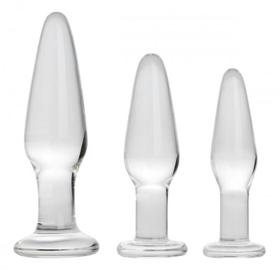 Prisms Dosha 3 Piece Glass Anal Plug Kit