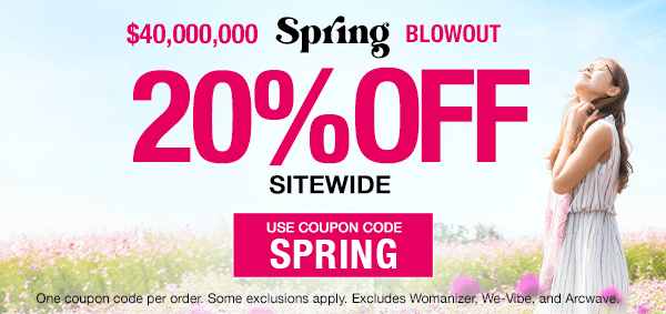 20% Off Sex Toys Sitewide! Use Code SPRING!