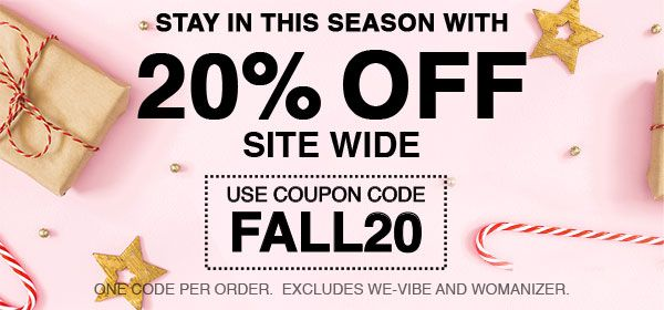 20% Off Site Wide - Use Code FALL20