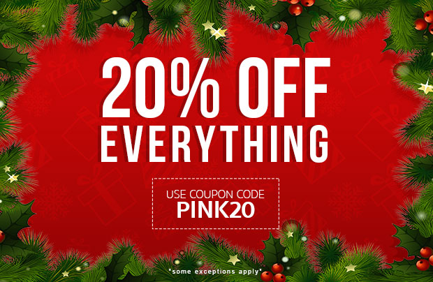 20% off use coupon code PINK20