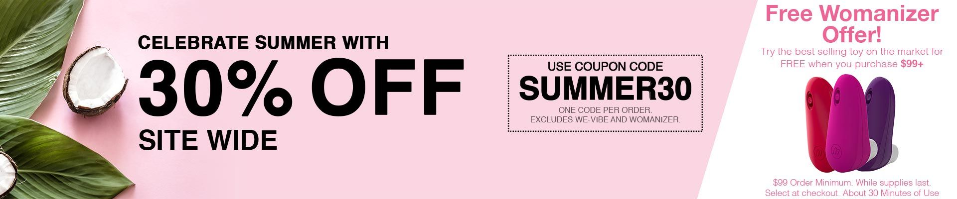 30% Off Site Wide - Use Code SUMMER30