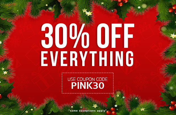 30% off use coupon code PINK30