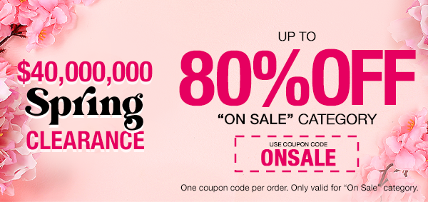Up To 80% Off Sex Toys! Use Code ONSALE!