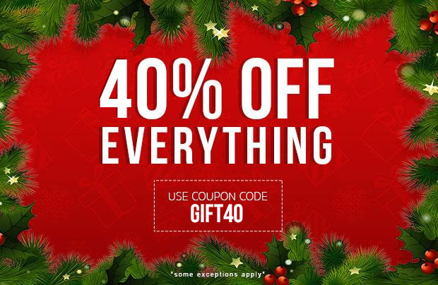 40% Off Everything! Use coupon code: GIFT40