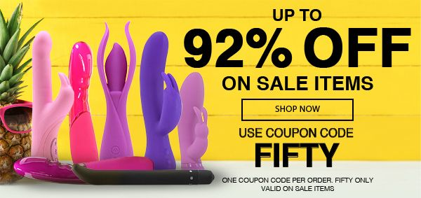 Up To 92% Off Sale Items! Use Code FIFTY!