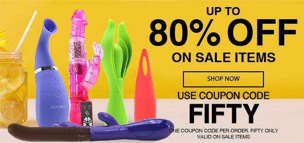 Up To 80% Off Sale Items! Use Code FIFTY!