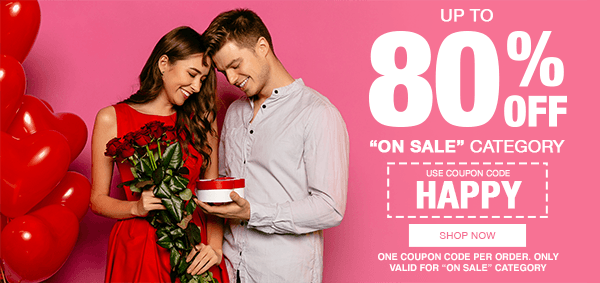 Extra 50% Off On Sale Category! Use Code HAPPY!