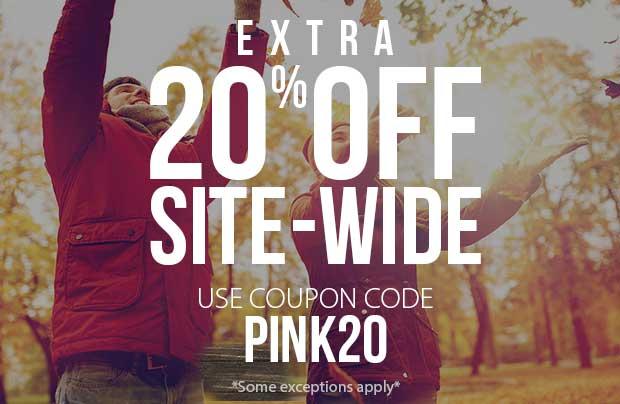 20% off everything! Use coupon code: PINK20