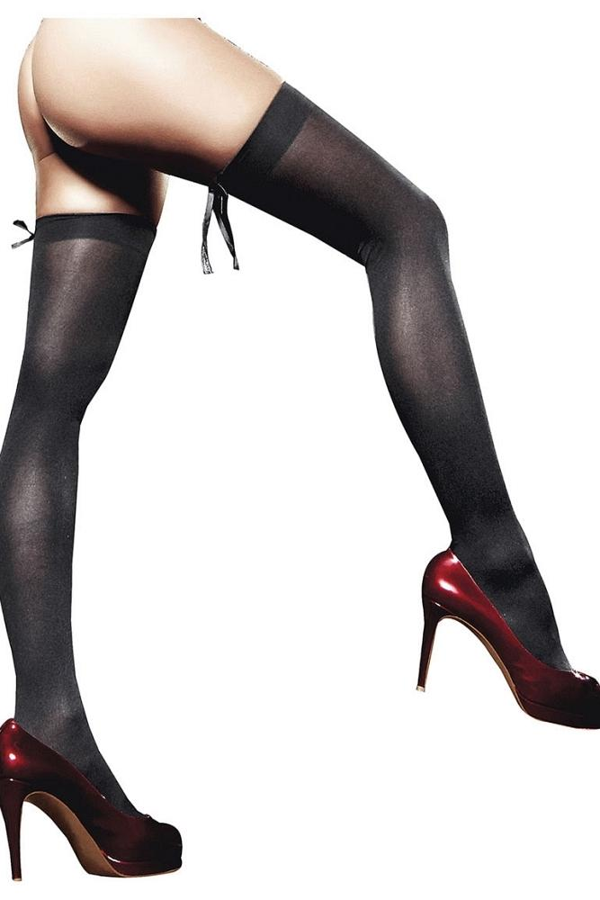 Opaque Black Thigh Highs