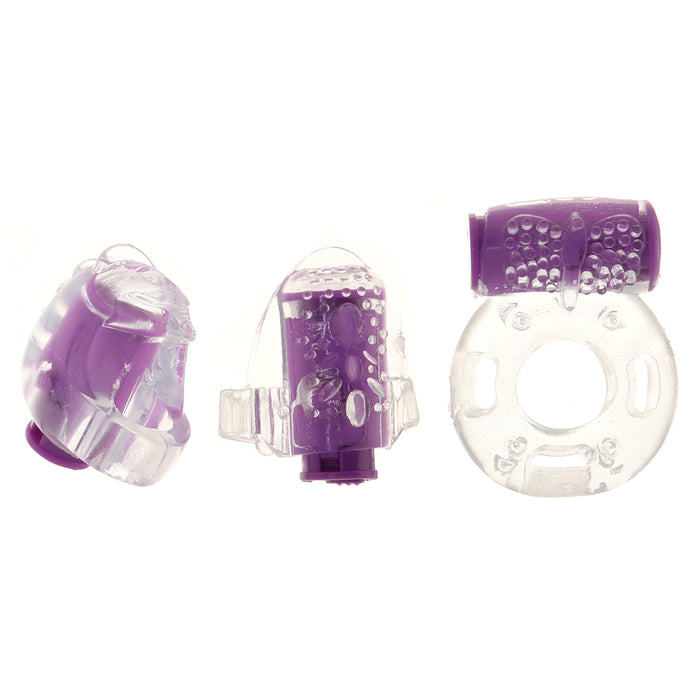 PinkCherry Master Trio Vibrating Rings Set