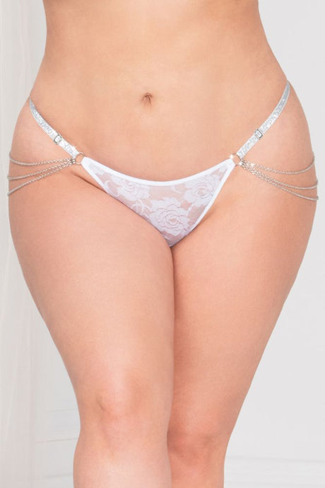 Lady of Chain White G-String