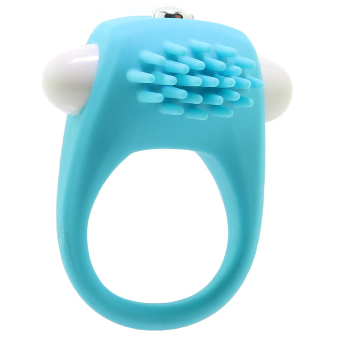 Teal Tickler Vibrating Cock Ring