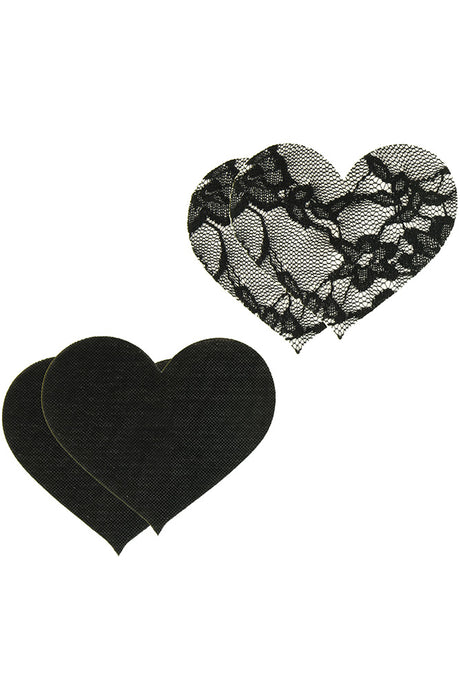 Peekaboos Satin & Lace Heart Pasties