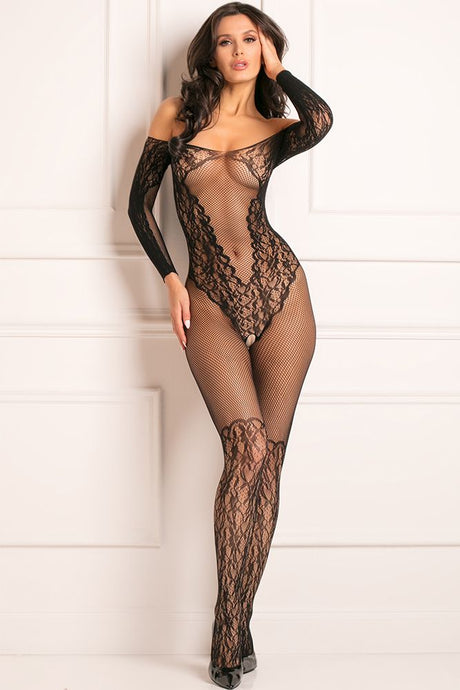 Make You Melt Black Bodystocking