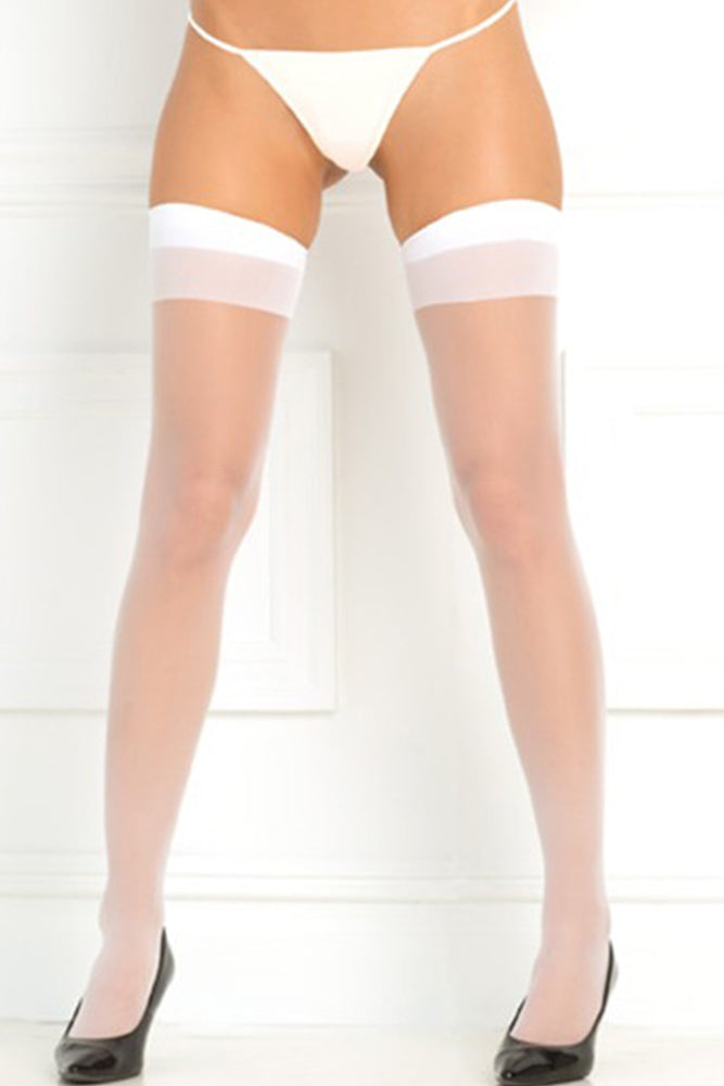 Sheer Thigh Highs In Os  Rene Rofe Lingerie Stockings Canada-3200