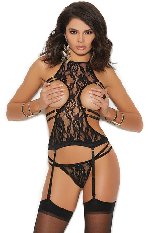 Strap In! Cupless Chemise & G-String