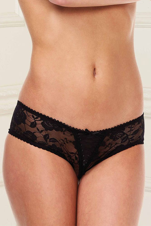 Best-Lace Scenario Open Crotch Black Panty