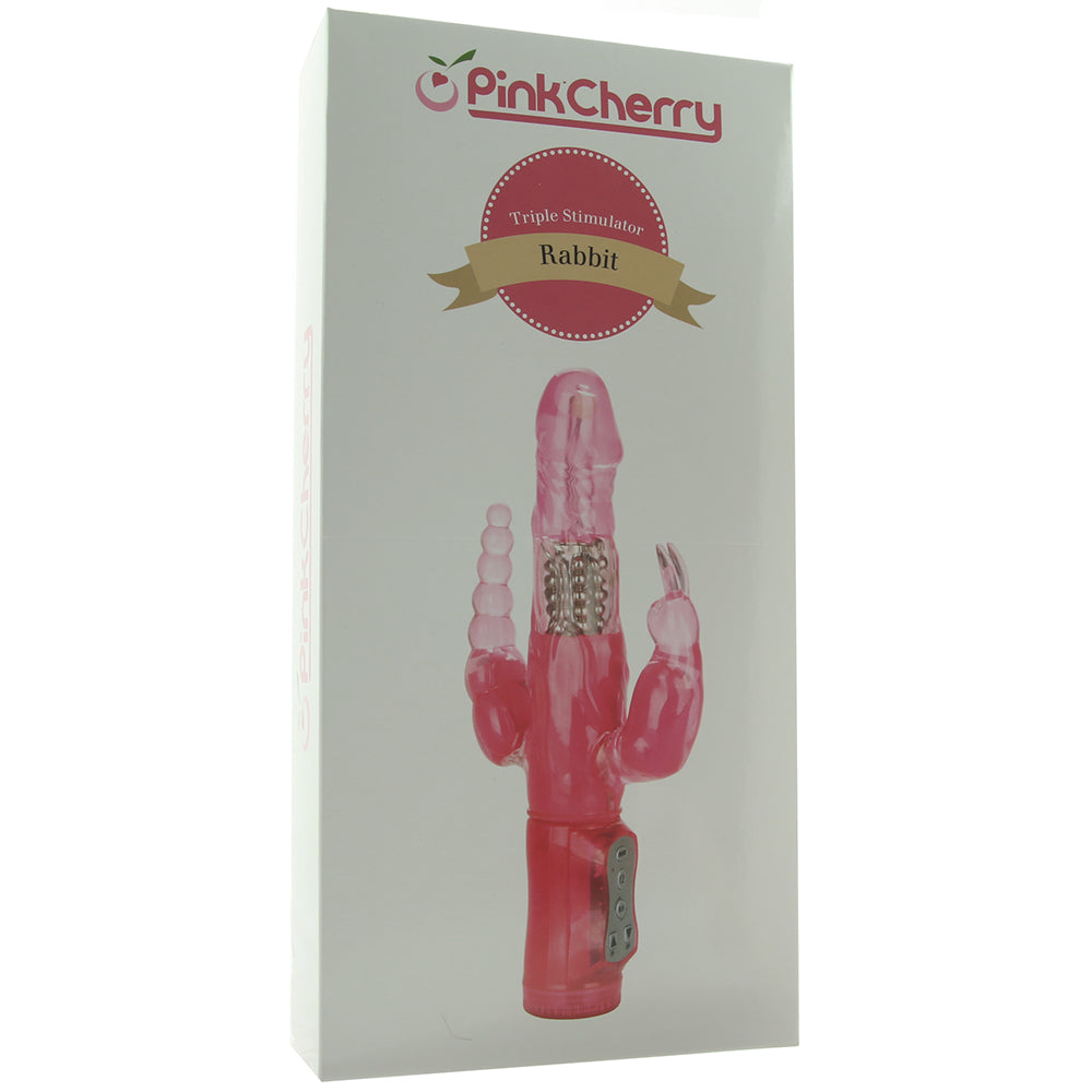 Shop by BrandNew Products PinkCherry Triple Stimulator Rabbit Vibe