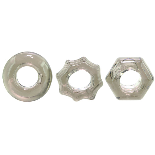 Triple Thick Cock Ring 3 pc Set
