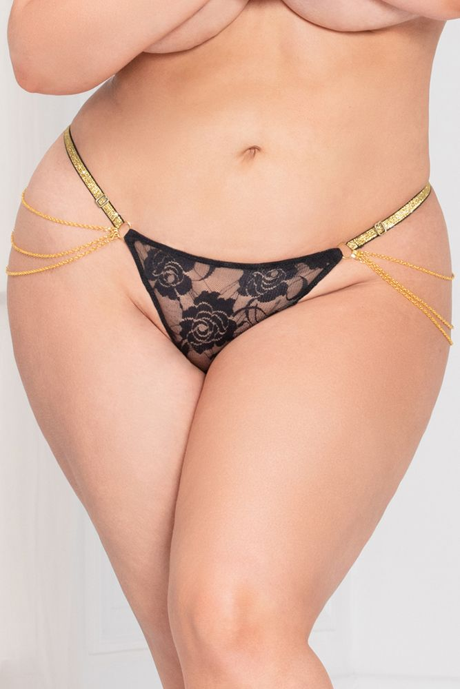 Lady of Chain Black G-String