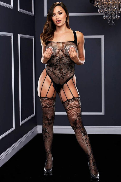 Strappy Gartered Bodystocking