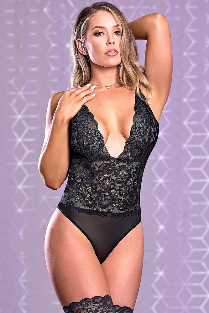 Risqué Business Black Teddy
