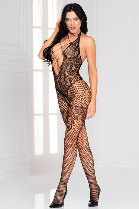 Seamless Floral Bodystocking