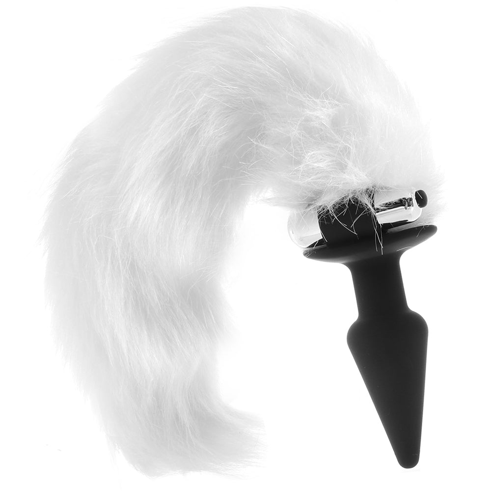 Tailz White Fox Vibrating Anal Plug with Bullet