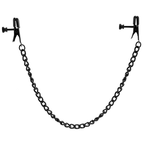Broad Tip Clamp with Black Link Chain