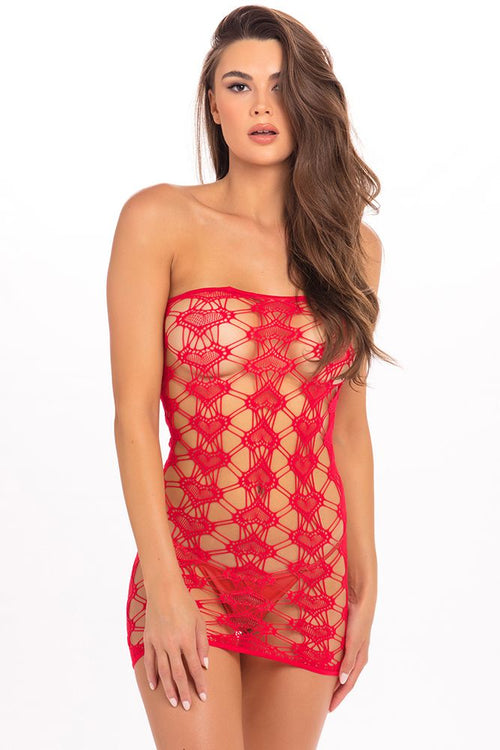 Queen of Hearts Red Tube Dress