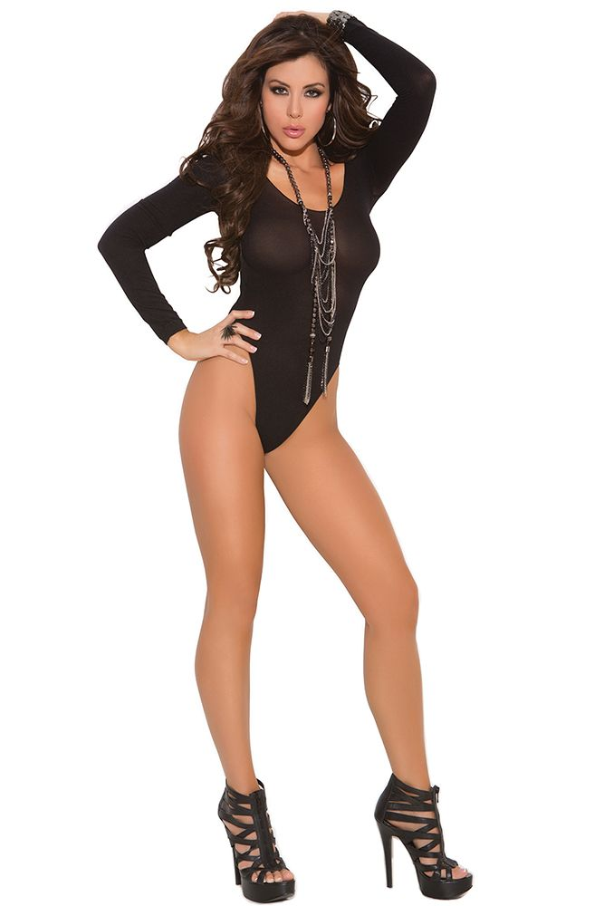 Long Sleeve Opaque Bodysuit