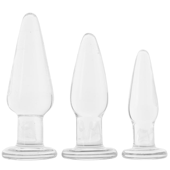 Crystal Premium Glass Tapered Anal Trainer Kit