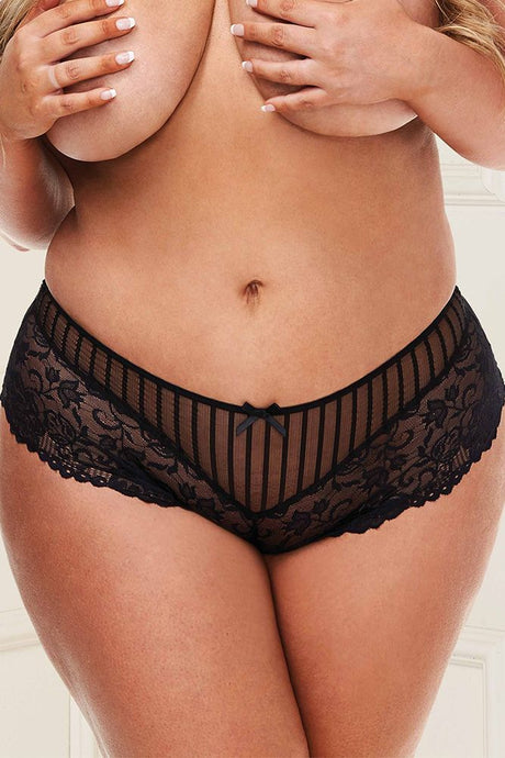 No Lace Like Home Black Lace Boyshort