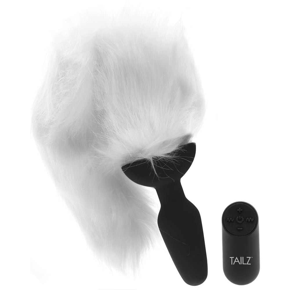 Tailz White Fox Vibrating Anal Plug