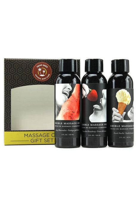 Hempseed Edible Massage Oil Gift Set
