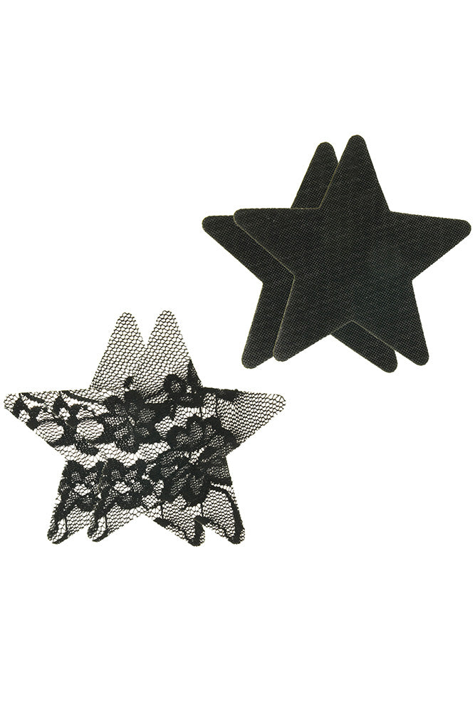 Peekaboos Satin & Lace Star Pasties