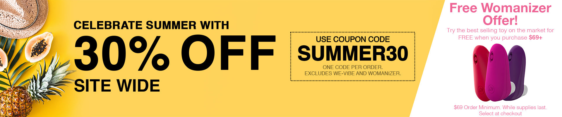 Sex Toy Store Online - 30% Off Site Wide - Use Code SUMMER30