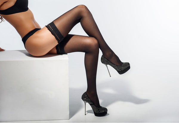 Thigh High Stockings Sexy Black Lingerie