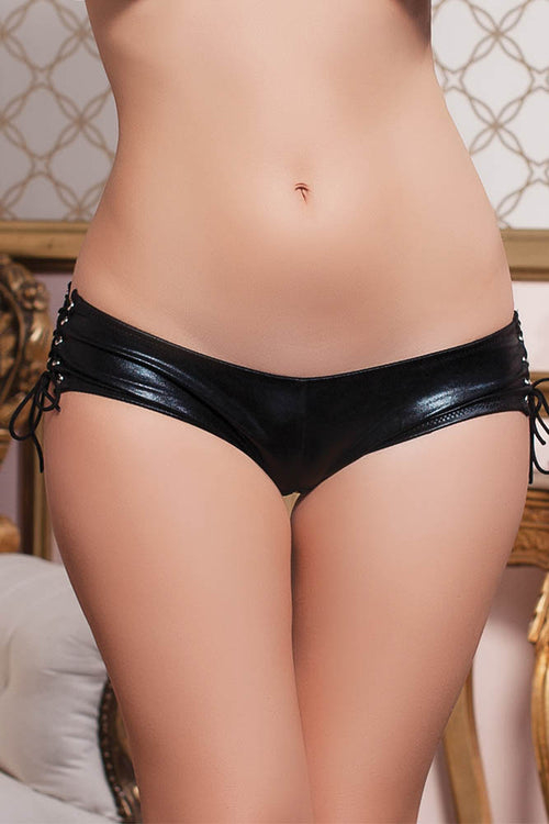 Wetlook Side Lace Boyshort