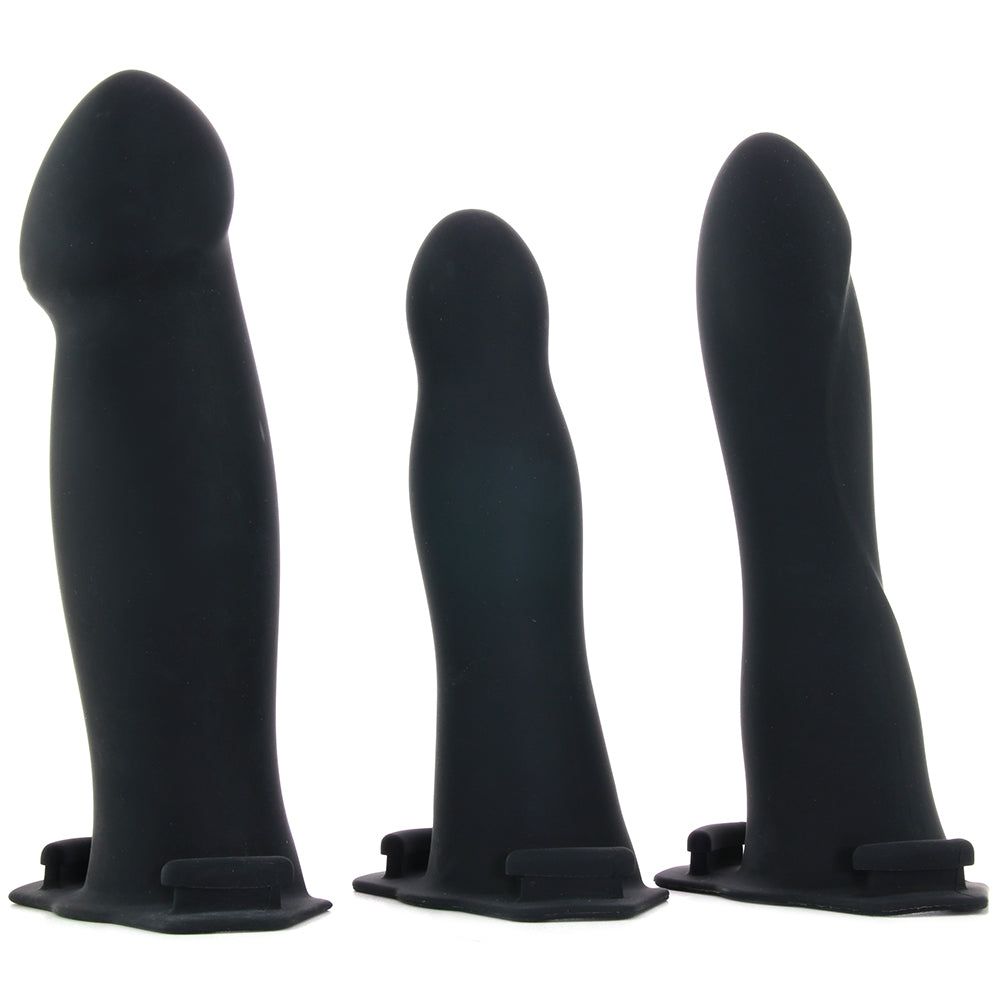 be naughty Vibrating Hollow 4 Piece Strap-On Set