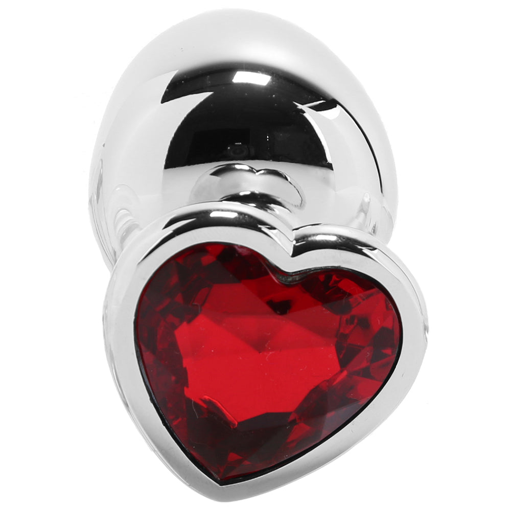 Booty Sparks Red Heart Gem Anal Plug